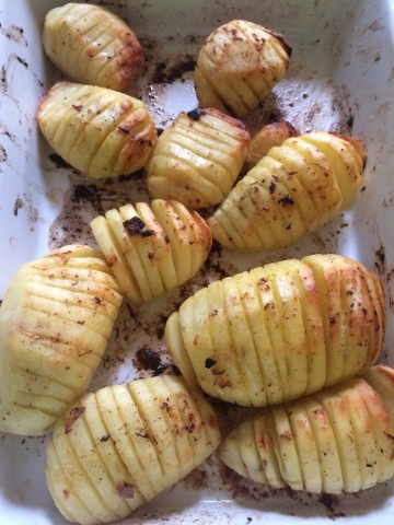 Roast Hasselback Potatoes