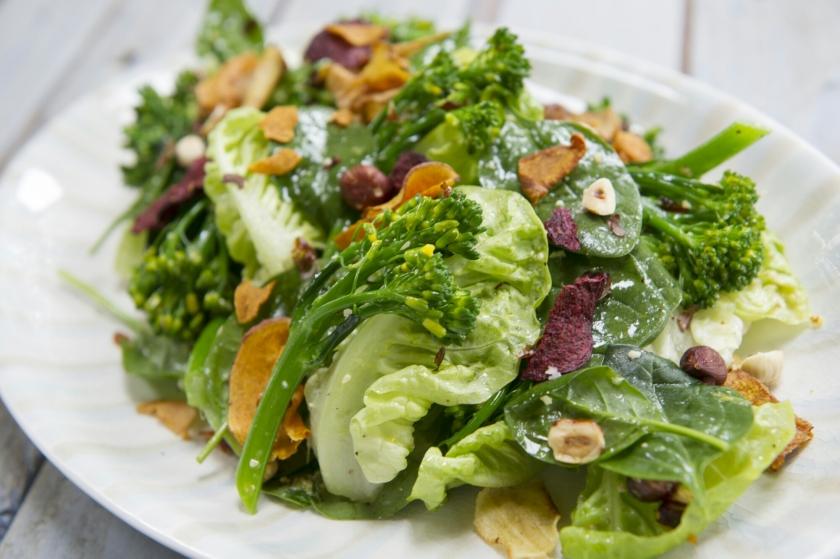 Salad, healthy, vegetables, Broccoli