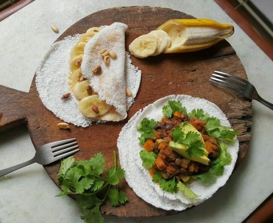 Tapioca, crepes, coeliac, gluten free