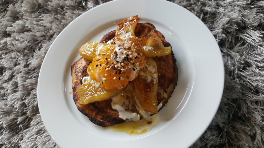 Pancakes, Banana, Orange, Delalicious