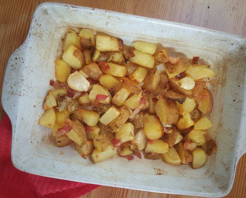 Garlic & Bacon Home Fries, Delalicious