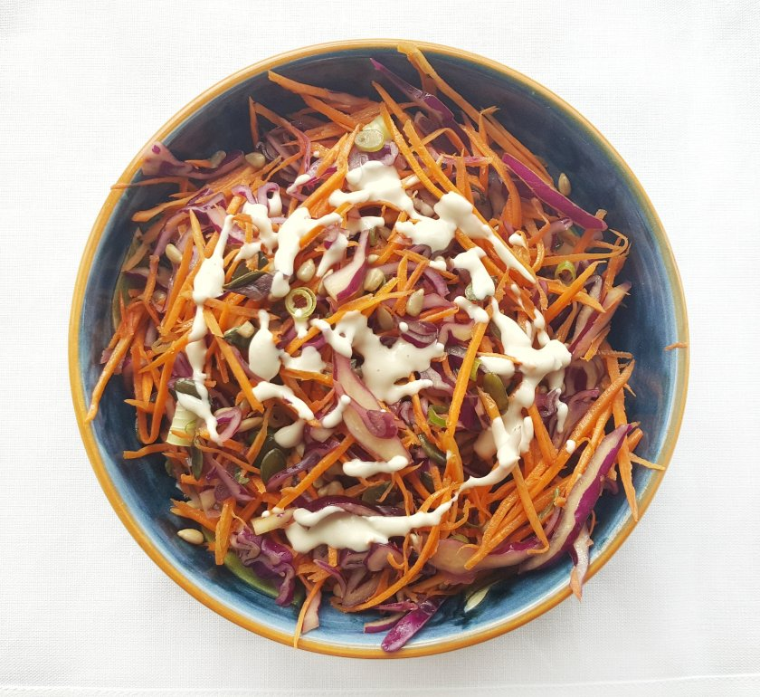 Middle Eastern Style Red Cabbage Slaw, Delalicious