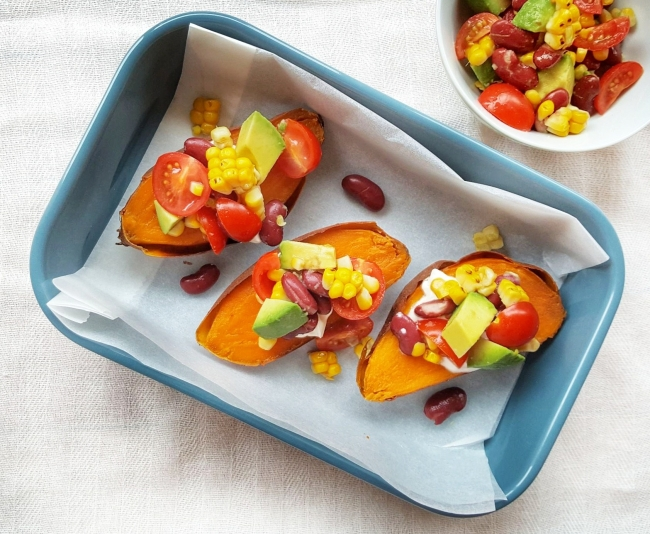 Sweet Potato Boats; Delalicious